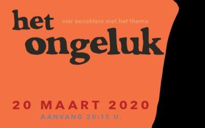 Eenakterfestival uitgesteld naar maart 2021